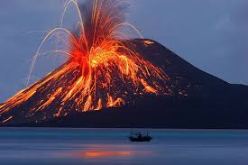 Photo of a volcano